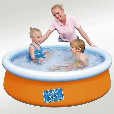 "My First Fast Set Pool 60""x15"" Mini Round Kids Wading Swimming Pool Inflatable"