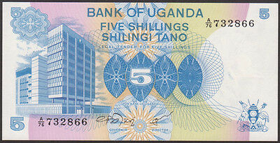 UGANDA  -  5  SHILLINGS  1979   -  P 10   Uncirculated Banknotes