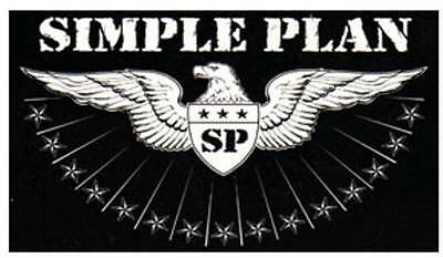 STICKER - SIMPLE PLAN - Eagle Logo 5 inches- - LICENSED NEW