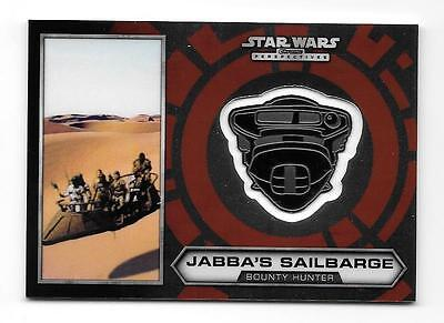 2014 Star Wars Chrome Perspectives Medallion #18 Jabba's Sailbarge /100 Sp