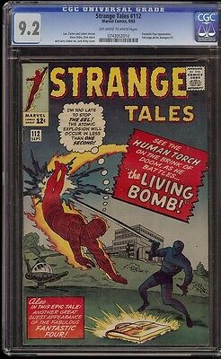 Strange Tales # 112 CGC 9.2 OW/W pages tough in high grade
