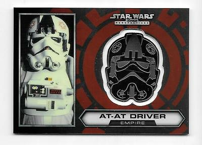 2014 Star Wars Chrome Perspectives Medallion #23 At-At Driver