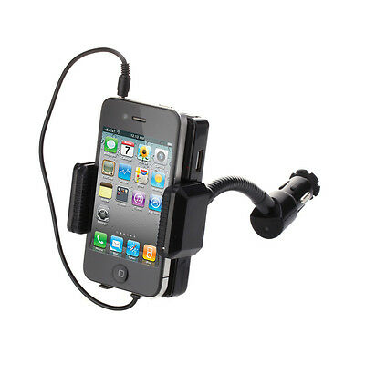 Universal FM Transmitter Car Charger Holder Kit Mount For SmartPhones MP3 MP4