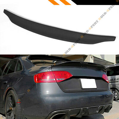 2009-2016 Audi A4 S4 B8 C Style Polyurethane Pu Primered Trunk Lid Spoiler Wing