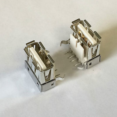 Qty 10 / MILL MAX  896-43-004-90-000000  USB TYPE A CONNECTOR RECEPTACLE 4POS