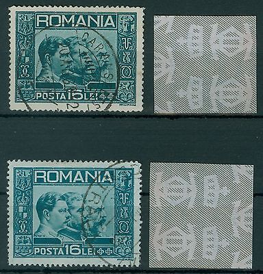 Rumänien 1931 Mi.418 @ used x2 Könige,Karl II.,Ferdinand I.,Karl II.,Three Kings