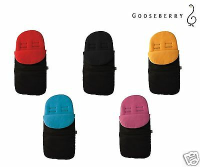 GOOSEBERRY FOOTMUFF PRAM SEAT LINER SLEEPING BAG COSY TOES 2in1 Universal fit