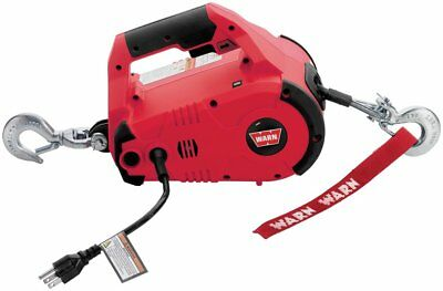 Warn Industries 110V Variable Speed Pullzall 1000LB Winch/Hoist Red