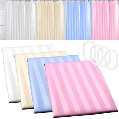 Luxury Modern Design Water Repellent Bathroom Shower Curtains With Hooks Stripe