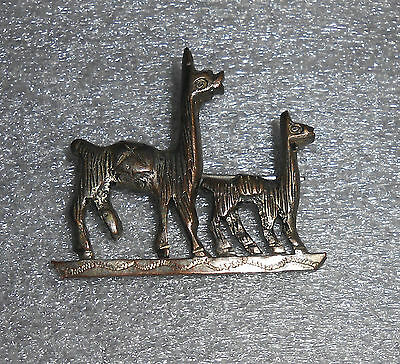 fine old sterling silver llama pin from Peru