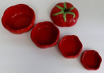 Ceramic Decorative Tomato Shaped Nesting Measuring Cups 5