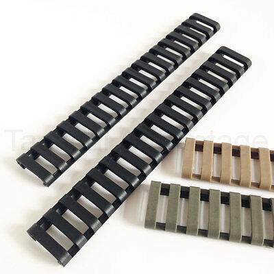 2 x AEG 20mm Rubber Rail Covers Handguard Ladder Airsoft RIS Magpul Style Cover