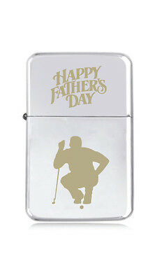 ★STAR★ engraved LIGHTER silver black pink gold FATHERS DAY GOLF PRO balls GIFT