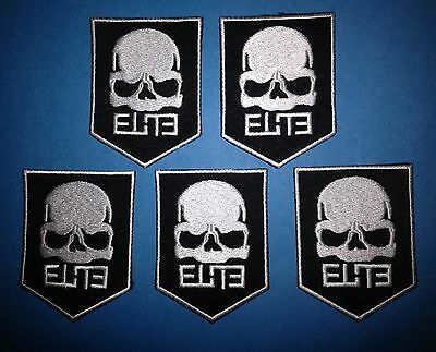 5 Lot Call Of Duty Elite Modern Warfare Iron On Hat Jacket Backpack Patches