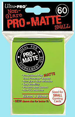 Ultra Pro 60 LIME GREEN PRO-MATTE Small Deck Protector NEW Gaming Card Sleeves