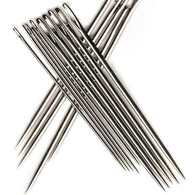 Bookbinding Needles - 5 Standard + 5 Large for all weights of bookbinding thread