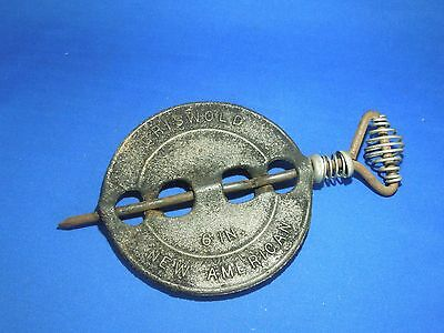 Vintage Cast Iron Griswold Reversible Spindle 6 In Damper New American Stovetop
