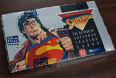 1993 Skybox/DC Return of Superman trading cards - factory sealed box of 36 packs
