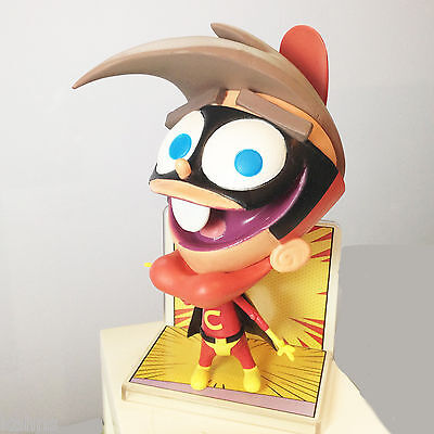 """Fairly Odd Parents: Timmy as Cleft The Boy Chin Wonder Articulated Figure New 6"""""""