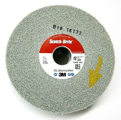 "3M Deburring Wheel 8A MED 6""x1""x1"" Scotch-Brite™ EXL Medium Grade Hard Density"