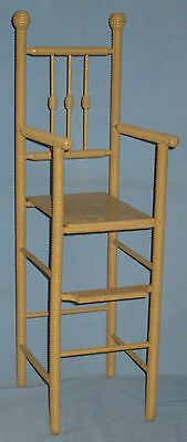 ANTIQUE DOLL HIGH CHAIR w/FOOT REST SPOOL TURNINGS BEEHIVE FINIALS ORIGINAL