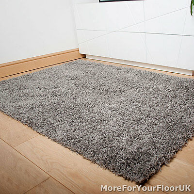 Silver Grey Thick Shaggy Rug, Thick Pile, Soft Touch, Great Quality, Cheap Price