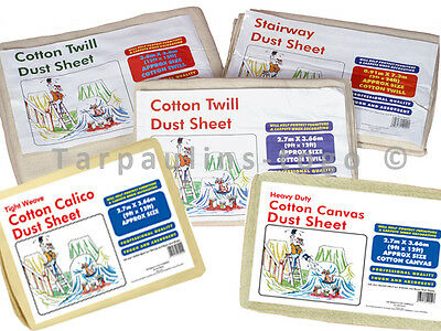 Cotton Dust Sheets Large Professional Quality DIY Decorating Sheets Heavy Duty