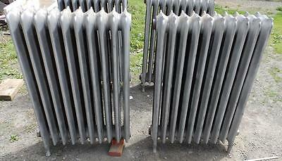 Antique Radiator Hot Water 20 Sections Decorative Cast Iron Plumbing 3296-14