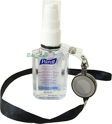 1 x Bottle Purell Hand Sanitiser Rub Gel 60ml Travel Pump Pocket Size Holder NHS