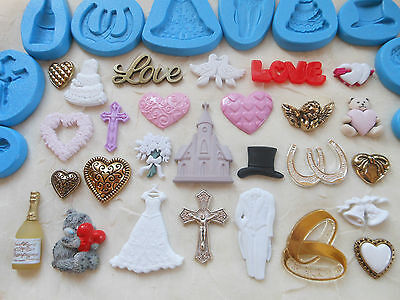 1x Sugarcraft/Fimo MOULD: LOVE / WEDDING / CHURCH /VALENTINE Themed