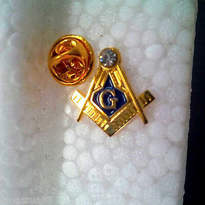Master Mason  Lapel Pin with White Stone