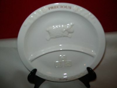 Russ Berri Precious Baby Child's Divided Plate