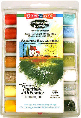 Embossing Powder Collection Scenic Selection 14 Colors by Stampendous NEW