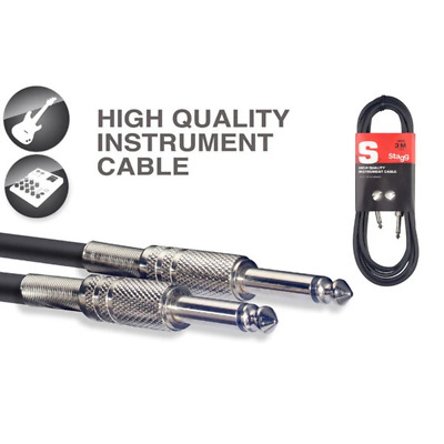 Stagg S-Series Instrument Cable - 3m (10ft) Jack to Jack