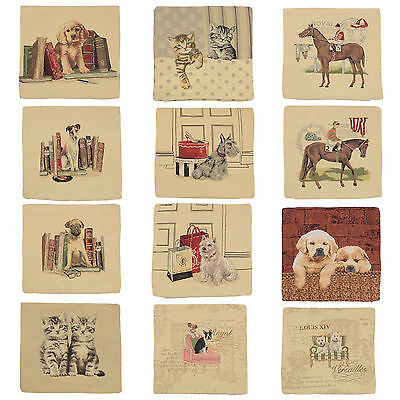 """18""""x18"""" Beautiful Tappestry Animal Cushion Cover - Loads Of Designs - COVER ONLY"""