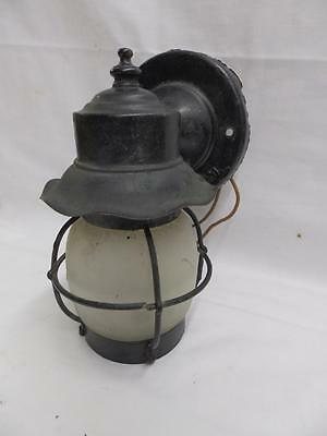 Vintage Copper Porch Light Sconce Wall Light Fixture Frosted Glass Globe 3312-14