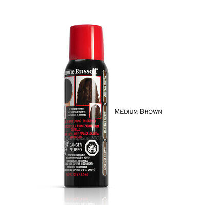 Medium Brown Jerome Russell Spray on Hair Color Thickener 3.5 oz