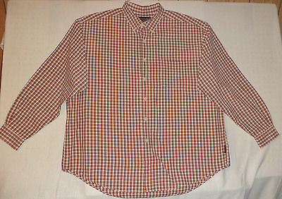 Abercrombie & Fitch  L/s Multi-Colored Check Button Front Shirt    Xl     K#6397