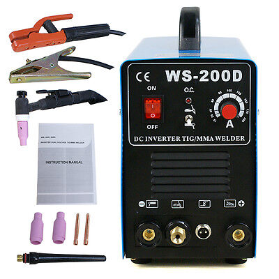 110v 220v Dual 200AMP DC Inverter TIG MMA Welder Welding Machine Stainless Steel
