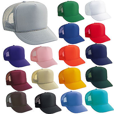 BULK LOT of 100 TRUCKER HATS ~ WHOLESALE Mesh Caps Adjustable SNAPBACK HAT Blank