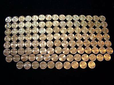 1959-2017 Complete Brilliant Uncirculated Lincoln Cent Set- P,D+S* Mint Pennies