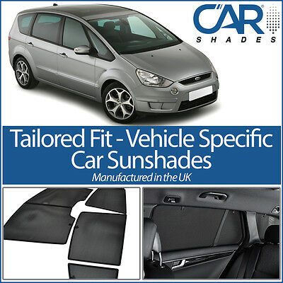 Ford S-Max 5dr 2006-10 UV CAR SHADES WINDOW SUN BLINDS PRIVACY GLASS TINT BLACK