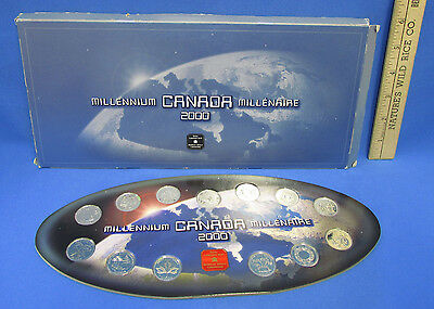 2000 Royal Canadian Mint Millenium Canada Millenaire 13 Coins Cardboard Holder