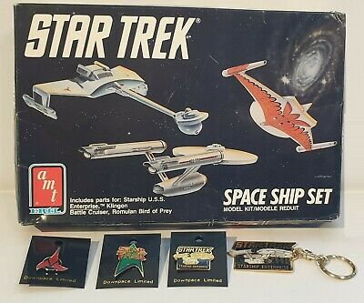 Star Trek The Original Series : Space Ship Set (Enterprise, Romulan & Klingon_