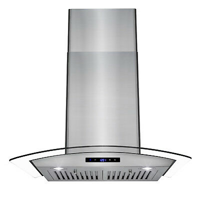 """30"""" Stainless Steel Wall Mount Push Button Controls LED Light Lamp Range Hood"""