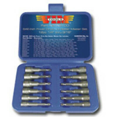 VIM Tools NS100-03 12 Piece SAE Power Drive Nut Setter Set w/Magnetic Drivers