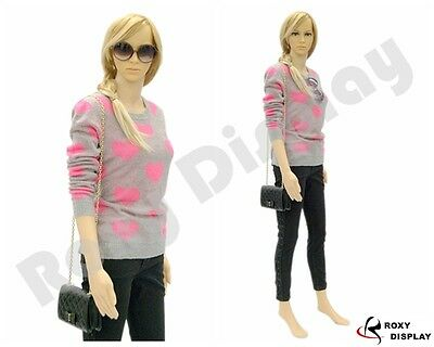Female Unbreakable Plastic Mannequin Display Dress Form PS-G5+FREE Wig