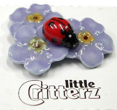 Little Critterz  - Forget Me Nots with a Ladybug - LC974 (Buy 5 get 6th free!)