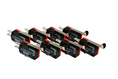 8 pc TEMCo Micro Limit Switch Long Roller Lever Arm SPDT Snap Action home LOT