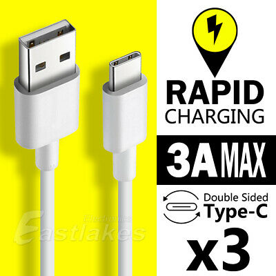 3x Type-C USB Data Charger Cable For Samsung Galaxy S10 S9 S8 Plus Note 9 8